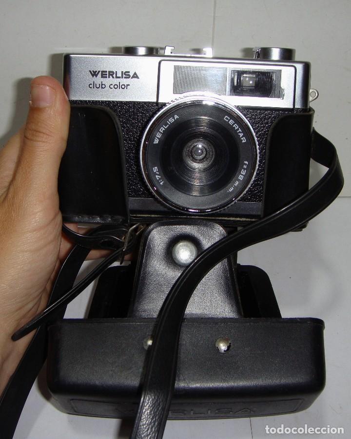 CÁMARA DE FOTOS WERLISA CLUB COLOR. AÑO 1.976. INCLUYE FUNDA Y CORREA PARA COLGAR. (Cámaras Fotográficas - Clásicas (no réflex))