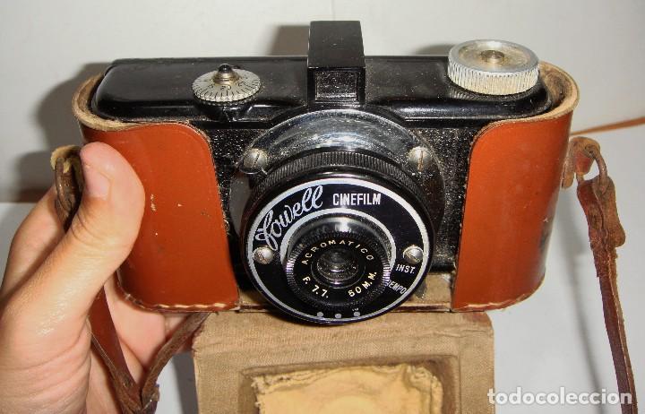 CÁMARA FOTOGRÁFICA. FOWELL CINEFILM 35 MM BAQUELITA CON FUNDA ORIGINAL (Cámaras Fotográficas - Clásicas (no réflex))