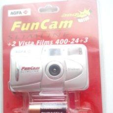 Cámara de fotos: AGFA FUNCAM SLIMLINE +2 VISTA FILMS 400-23+3. Lote 153924768