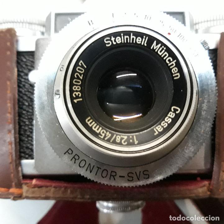 Cámara de fotos: Camara fotografica Braun Paxette, con su funda de cuero - Foto 5 - 128758987