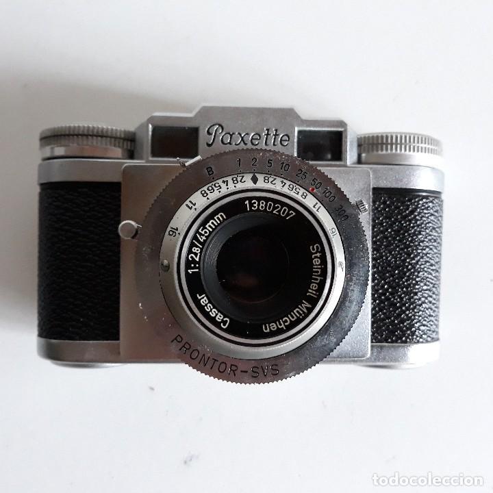 Cámara de fotos: Camara fotografica Braun Paxette, con su funda de cuero - Foto 12 - 128758987