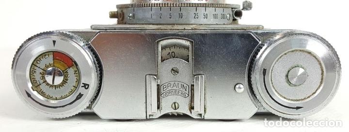 Cámara de fotos: CÁMARA FOTOGRÁFICA. 35 MM. BRAUN PAXETTE. ALEMANIA. 1951. - Foto 3 - 128889487