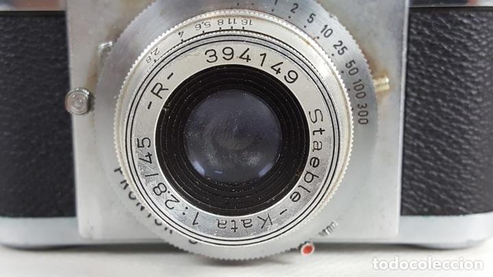 Cámara de fotos: CÁMARA FOTOGRÁFICA. 35 MM. BRAUN PAXETTE. ALEMANIA. 1951. - Foto 9 - 128889487