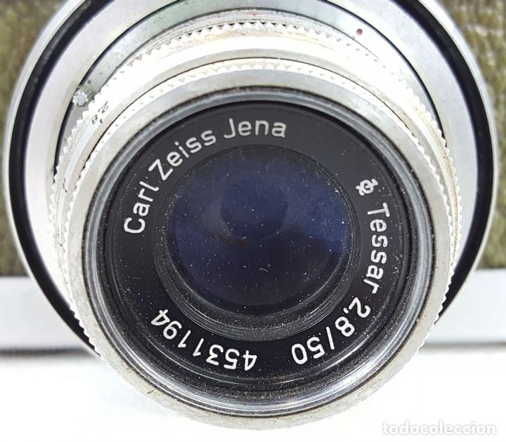 Cámara de fotos: CÁMARA FOTOGRÁFICA WERRA. ALEMANIA DEL ESTE. CARL ZEISS JENA. TESSAR. AÑOS 50. - Foto 2 - 160352610
