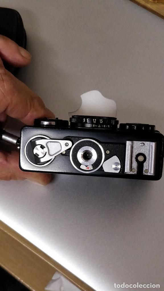 Cámara de fotos: Cámara fotográfica ROLLEI 35 (Negro) con funda original. fotómetro. - Foto 3 - 129427455