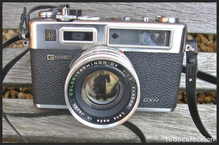 Cámara de fotos: Cámara Yashica GSN....LENTE.....COLOR-YASHINON DX 1:1.7 F=45 mm....sin pila - Foto 3 - 145172658