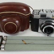 Cámara de fotos: CAMARA FOTOGRAFICA. ZEISS IKON CONTINA. FUNDA ORIGINAL MÁS TRIPODE. CIRCA 1950. . Lote 132071830