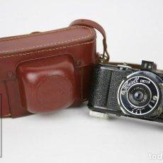 Cámara de fotos: ANTIGUA CÁMARA FOTOGRÁFICA - FOWELL CINEFILM - USA - FUNDA ORIGINAL DE PIEL - AÑOS 40-50. Lote 133717198