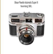 Cámara de fotos: BRAUN PAXETTE AUTOMATIC SUPER III. GRAN TELEMÉTRICA ALEMANA DE 1961. MUY BUEN ESTADO DE CONSERVACION. Lote 136811382
