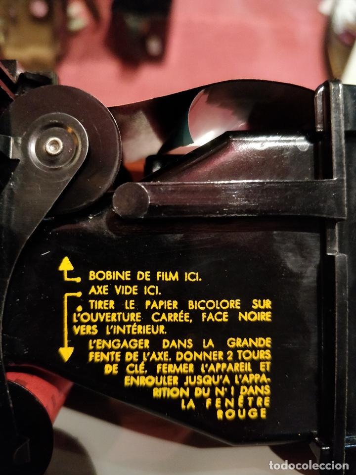 Cámara de fotos: Cámara Kodak Brownie Flash vintage años 50-60s color negro y funda original de cuero - Foto 7 - 140829690
