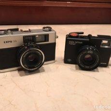 Cámara de fotos: LOTE 2 CÁMARAS EXPO 35 Y AGFA OPTIMA. Lote 142991966