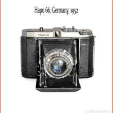 Cámara de fotos: HAPO 66, SENCILLA Y ATRACTIVA 6X6 ALEMANA DE 1952. EN BUENAS CONDICIONES.. Lote 143710542