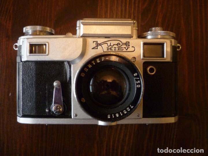 Cámara de fotos: CÁMARA FOTOS KIEV 4 SOVIÉTICA, URSS, RUSA CON OBJETIVO JUPITER 8M - Foto 7 - 144118930