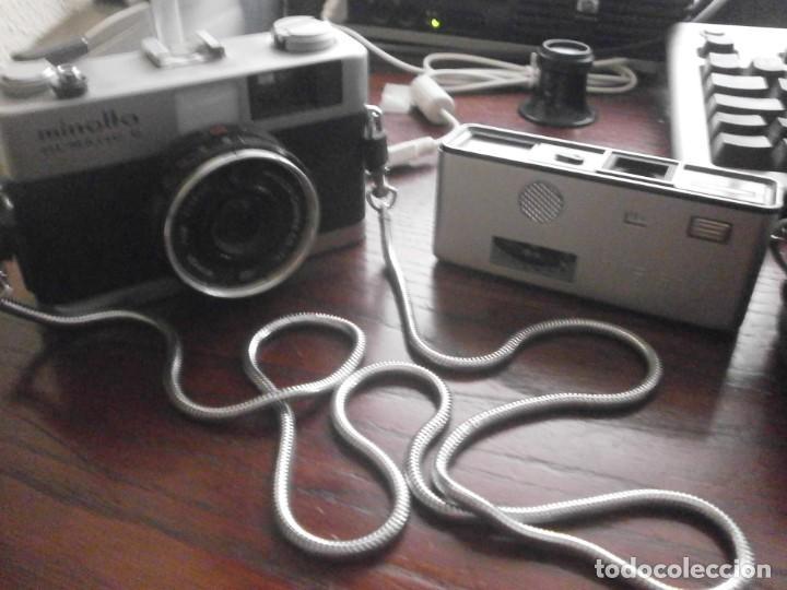 Cámara de fotos: Minolta HI Matic G objetivo Rokkor 1.28 f 38 mm - Minolta 16 modelo P espia con funda cuero - Foto 3 - 147470250