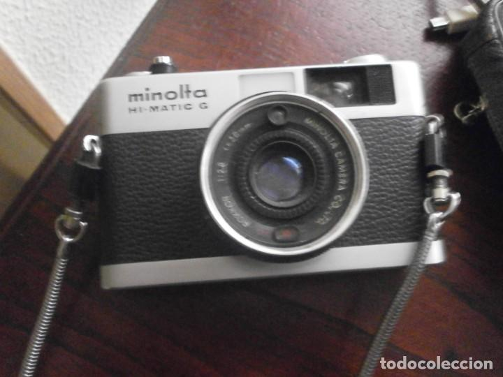 Cámara de fotos: Minolta HI Matic G objetivo Rokkor 1.28 f 38 mm - Minolta 16 modelo P espia con funda cuero - Foto 5 - 147470250
