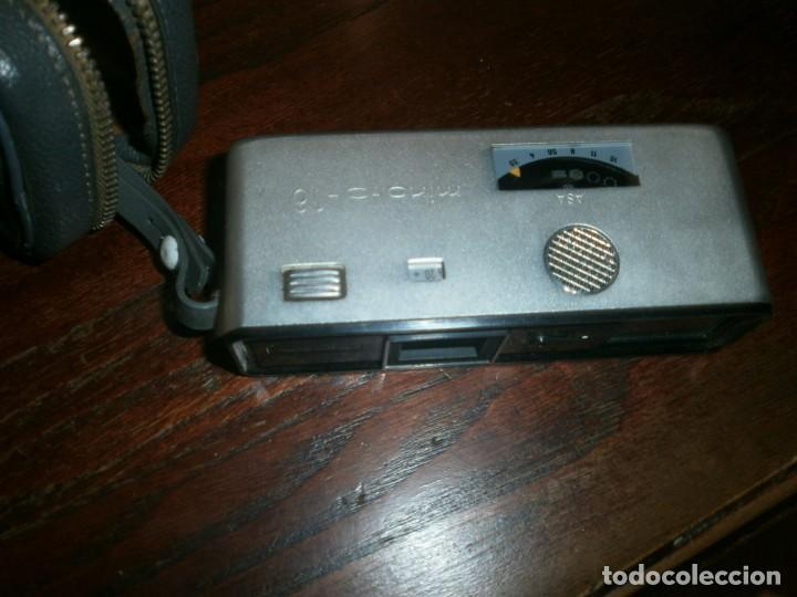 Cámara de fotos: Minolta HI Matic G objetivo Rokkor 1.28 f 38 mm - Minolta 16 modelo P espia con funda cuero - Foto 6 - 147470250