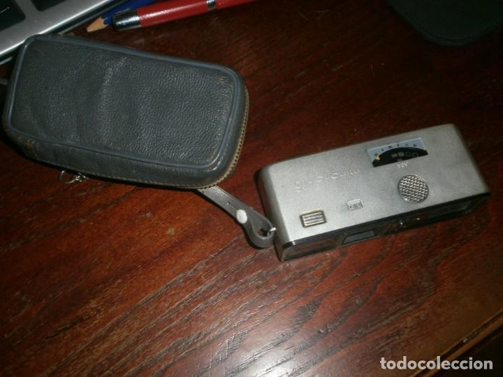 Cámara de fotos: Minolta HI Matic G objetivo Rokkor 1.28 f 38 mm - Minolta 16 modelo P espia con funda cuero - Foto 7 - 147470250