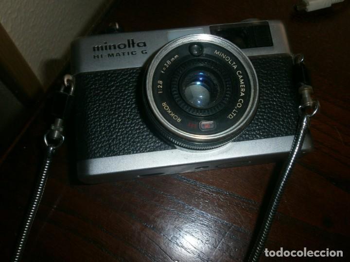 Cámara de fotos: Minolta HI Matic G objetivo Rokkor 1.28 f 38 mm - Minolta 16 modelo P espia con funda cuero - Foto 8 - 147470250