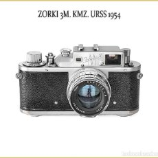 Cámara de fotos: ZORKI 3M ATRACTIVA TELEMÉTRICA SOVIÉTICA DE 1954. BUEN ESTADO DE CONSERVACION.. Lote 150370002