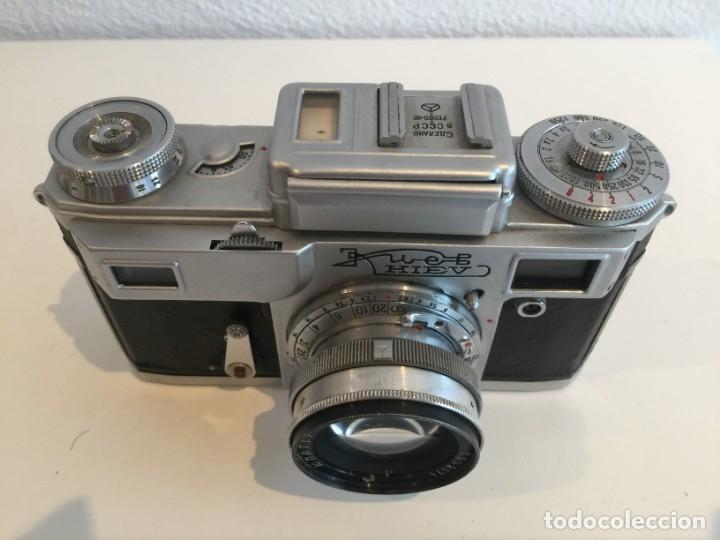 Cámara de fotos: GCH - CAMARA FOTOGRAFICA KIEV 4 SOVIETICA, URSS , RUSA, OBJETIVO JUPITER 8 M + FUNDA ORIGINAL - GCH - Foto 3 - 151943466