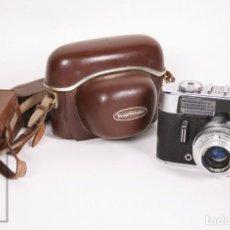 Cámara de fotos: CÁMARA FOTOGRÁFICA VOIGTLANDER VITO CD - PRONTOR 250 S - FUNDA Y FLASH ORIGINAL - AÑOS 60. Lote 152909438