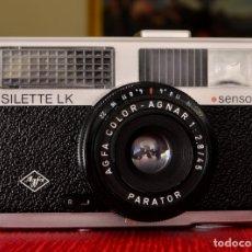 Cámara de fotos: AGFA SILETTE LK SENSOR + ESTUCHE ORIGINAL. ALEMANIA, 1969 EXCELENTE++++. Lote 153659470