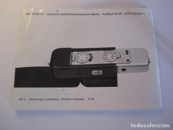 Cámara de fotos: lote camara fotografica minox lx con su funda original y manual de instrucciones y 11 carretes minox - Foto 11 - 153819822