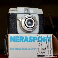 Cámara de fotos: CÁMARA NERASPORT 3X4 ESPAÑOLA+ CAJA ORIGINAL+ INSTRUCCIONES EXCELENTE+++. Lote 155496046