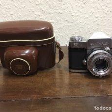 Cámara de fotos: CÁMARA DE FOTOS ANTIGUA ZEISS IKON CONTAFLEX CON OBJETIVO CARL ZEISS Y FUNDA ORIGINAL. Lote 155930898
