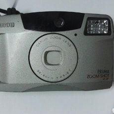 Cámara de fotos: CÁMARA CANNON PRIMA ZOOM SHOT 38-60MM FUNCIONA. Lote 156769344