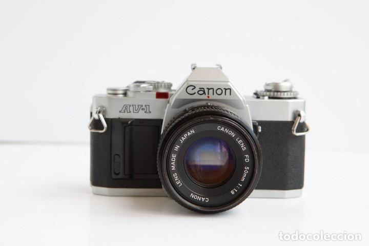 CANON AV-1 REFLEX + LENTE CANON 50MM 1.8 CAMARA REFLEX 35MM 35 MM ANALOGICA (Cámaras Fotográficas - Clásicas (no réflex))
