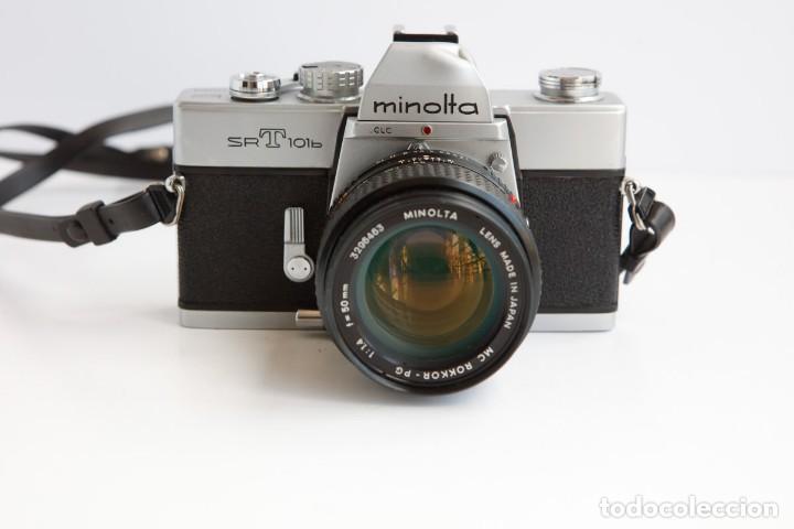 MINOLTA SRT 101B + MINOLTA MC ROKKOR PG 50MM 1.4 CAMARA REFLEX 35MM ANLOGICA (Cámaras Fotográficas - Clásicas (no réflex))