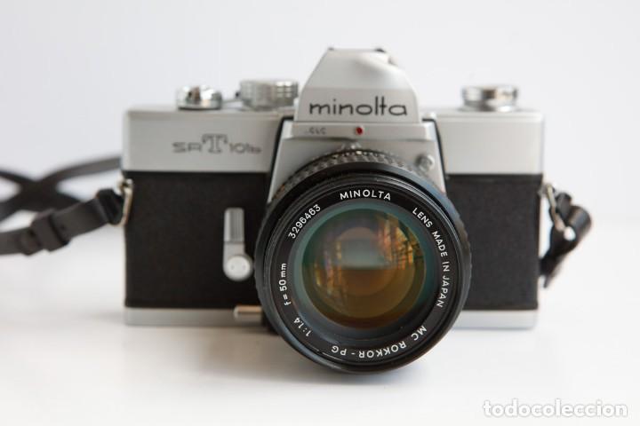 Cámara de fotos: Minolta SRT 101b + Minolta MC Rokkor PG 50mm 1.4 Camara Reflex 35mm Anlogica - Foto 2 - 160045798