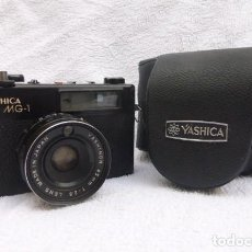 Cámara de fotos: YASHICA MG -1 Y FUNDA ORIGINAL..FUNCIONANDO..PERFECTA..JOYA TELEMETRICA. Lote 160072722