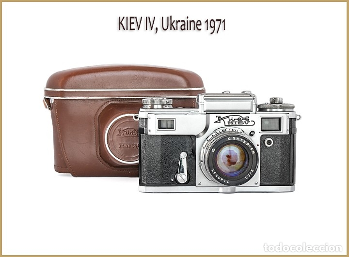CÁMARA KIEV 4, TELEMÉTRICA RUSA DEL AÑO 1971, EN EXCELENTE ESTADO. (Cámaras Fotográficas - Clásicas (no réflex))