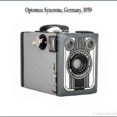 Fotocamere: OPTOMAX SYNCRONA. ELEGANTE CÁMARA DE CAJON ALEMANA DE 1959. EN ÓPTIMA CONDICION. Lote 166954532