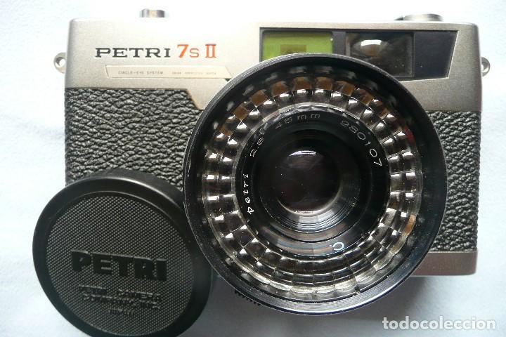 Cámara de fotos: CAMARA CLASICA DE TELEMETRO -PETRI 7s II-(AÑOS 60) - Foto 2 - 167718624