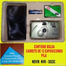 Cámara de fotos: CAMARA NEVIR NVR - 3022 COMPLETA CON FUNDA. Lote 167985012