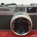 Cámara de fotos: CAMARA FOTOGRAFICA CANON. MODELO CANONET 28. OBJETIVO CANON. TAIWAN 1971.. Lote 168053924
