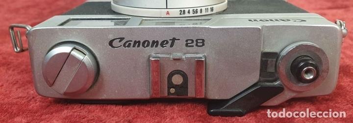 Cámara de fotos: CAMARA FOTOGRAFICA CANON. MODELO CANONET 28. OBJETIVO CANON. TAIWAN 1971. - Foto 5 - 168053924