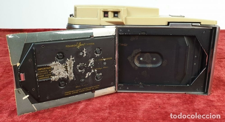 Cámara de fotos: CÁMARA FOTOGRÁFICA POLAROID 800. LAND CÁMERA. ESTADOS UNIDOS. 1958. - Foto 6 - 172055273