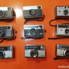 Cámara de fotos: LOTE 9 CÁMARAS ANTIGUAS KODAK INSTAMATIC - CAMARA VINTAGE. Lote 174186470