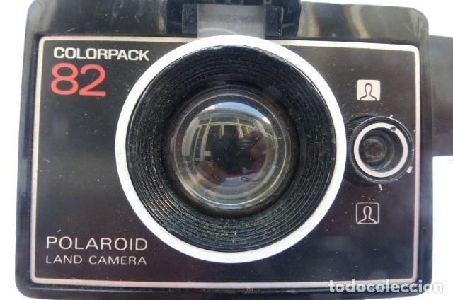 Cámara de fotos: Camara instantanea Polaroid Colorpack 82...decada de los 80..con cubo flahs y procesador de tiempo. - Foto 2 - 175192200