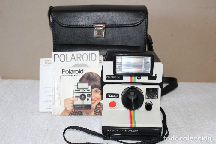 CAMARA POLAROID 1000 - FLASH POLATRONIC 1 - INSTRUCCIONES - BOLSA (Cámaras Fotográficas - Clásicas (no réflex))