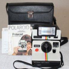 Cámara de fotos: CAMARA POLAROID 1000 - FLASH POLATRONIC 1 - INSTRUCCIONES - BOLSA. Lote 176192363