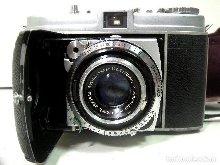 Cámara de fotos: KODAK RETINA IB- CAMARA FOTOS 35MM 1954/57 -OBJETIVO 50 MM F72.8 - FOTOGRAFICA DE 35 - Foto 2 - 178053440
