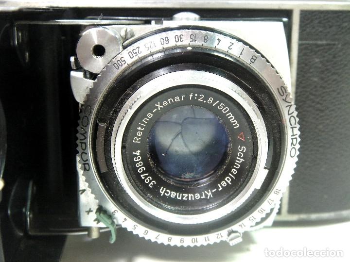 Cámara de fotos: KODAK RETINA IB- CAMARA FOTOS 35MM 1954/57 -OBJETIVO 50 MM F72.8 - FOTOGRAFICA DE 35 - Foto 9 - 178053440