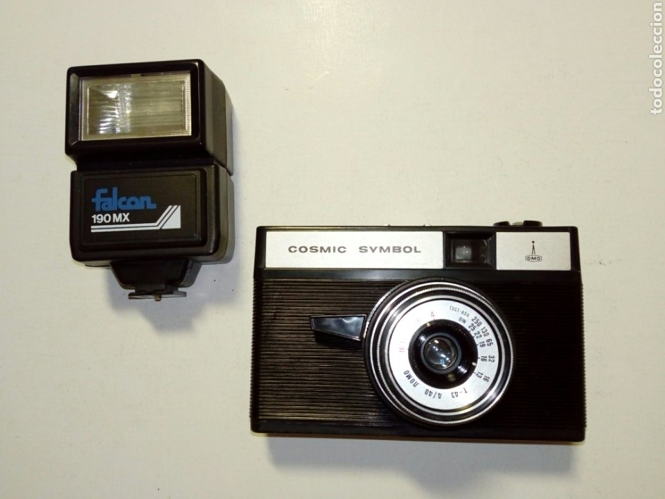 LOMO COSMIC SYMBOL + FLASH FALCON 190MX - AUTÉNTICA CÁMARA LOMOGRÁFICA FABRICADA EN LA URSS CCCP (Cámaras Fotográficas - Clásicas (no réflex))