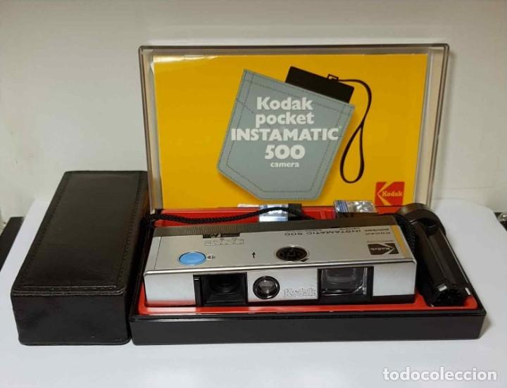 Cámara de fotos: CAMARA KODAK INSTAMATIC 500, CON ESTUCHE, FLASH, - Foto 2 - 254526115