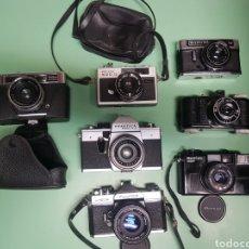Cámara de fotos: LOTE CÁMARAS FOTOGRÁFICAS PRAKTICA SUPER TL2 FUJICA ST605 FOWELL CINEFILM HALINA 500 MAMIYA 135 EF. Lote 182828420